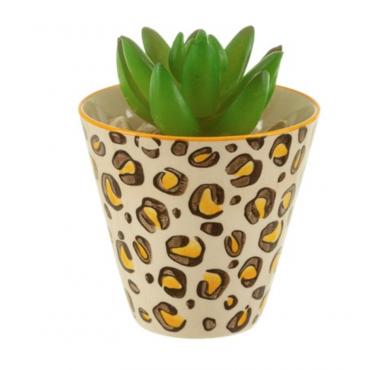 Leopard love mini planter