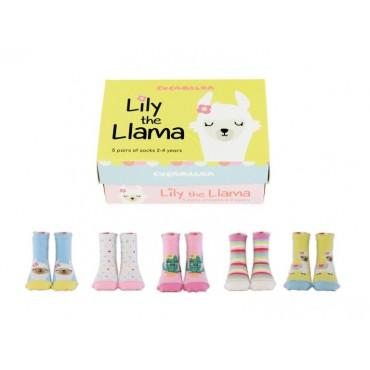 SOCKS LILY THE LAMA 5 PAIRS
