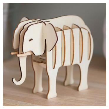 Puzzle 3D elephant