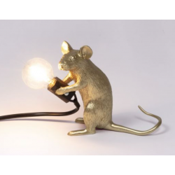 Mouse lampe Gold (assis)