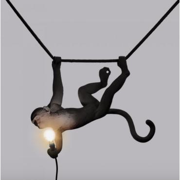 Lampe singe swing noir