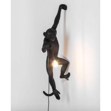 Applique Lampe singe noir