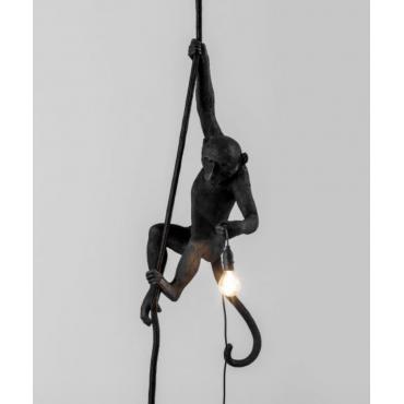 Lampe singe corde noir