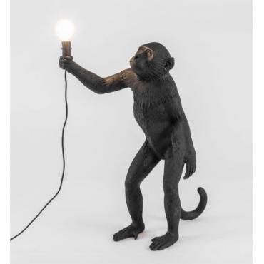 Lampe singe debout noir