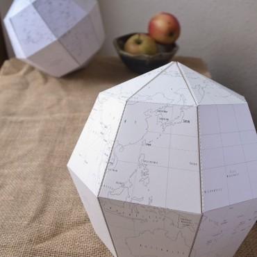 Paper globe à colorier