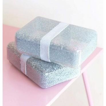 Lunchbox Glitter silver