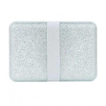 Lunch box Glitter silver