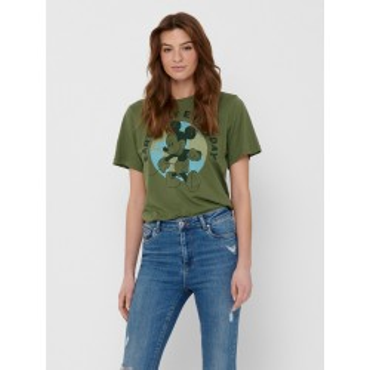 Kaki T-shirt with Disney print