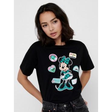 Noir T-shirt with Disney print