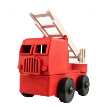 Camion pompier en bois recyclé