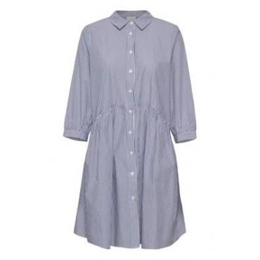 Robe chemise rayée bleu...