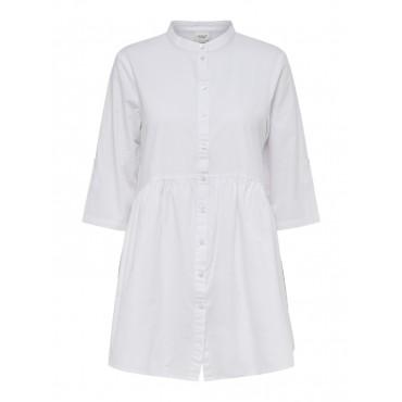 Robe courte blanche manche...