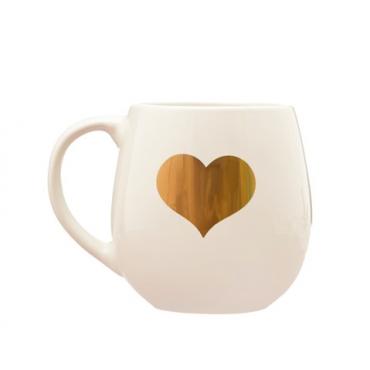 Mug Heart Gold