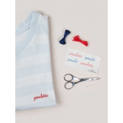 Easy broderie DIY Poulette
