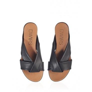 sandale cuir tibet noir