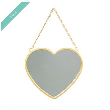 Gold Heart Mirror