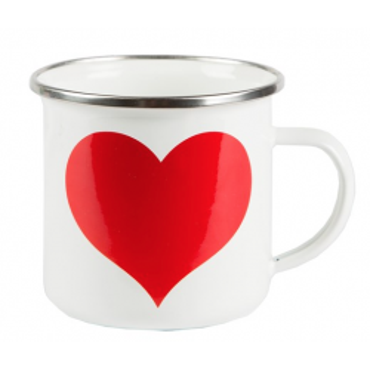 Mug heart metal