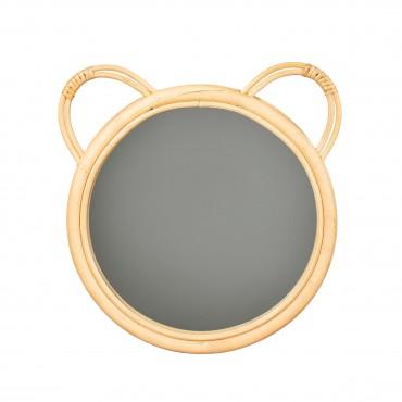 Rattan bear mirror