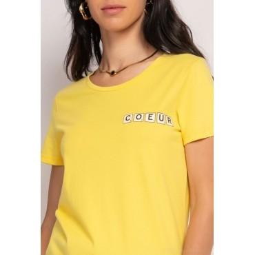 Tshirt coeur jaune