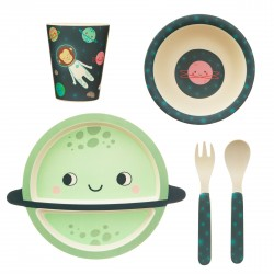 Bamboo space table ware