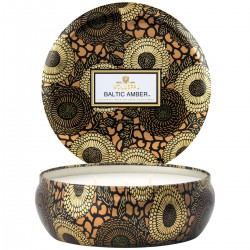 Bougie 3 wick baltic amber