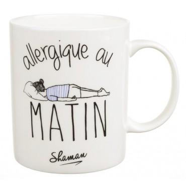 """Mug """"allergique au matin"""""""