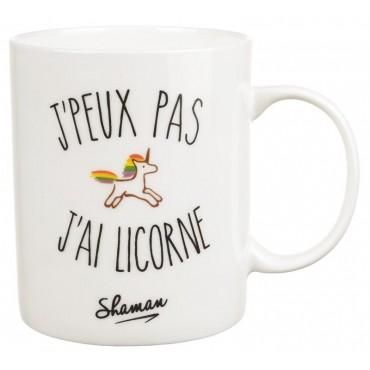 """Mug """"J'peux pas j'ai licorne"""""""