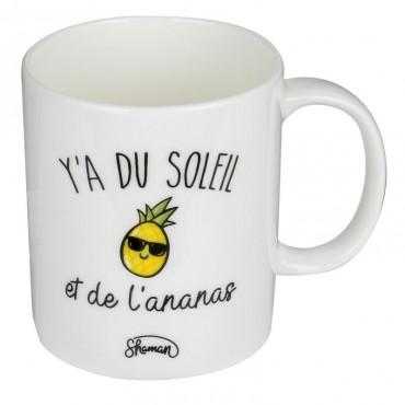 """Mug """"y'a du soleil """""""