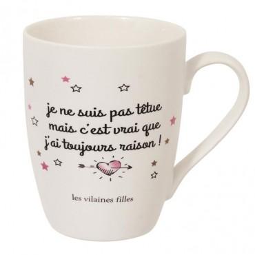 "Mug ""je suis têtue"""